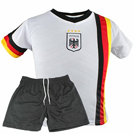 timeless design a5882 c3faa MC-Trend Germany Deutschland German Football Team Children's Jersey Set  with Shorts and Mesh Inserts, 4 Star World Cup Germany National Team ...
