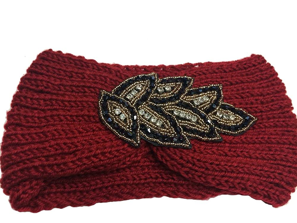 TININNA Serre-tête Bandeau Bande de Cheveux Laine Tricoté Turban Elastique Couvre-Oreille Head Wrap Chapeaux pour Femme Fille