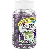 Centrum Flavor Burst Wild Grape Multivitamin/Multimineral Supplement Adult Chews , 120 CT (Pack of 3)