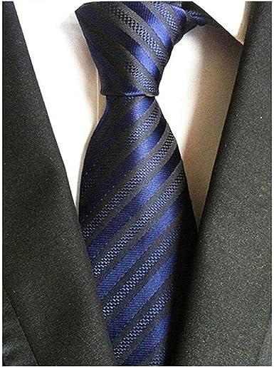 Secdtie Mens Classic Checks Light Blue White Jacquard Woven Silk Tie Necktie