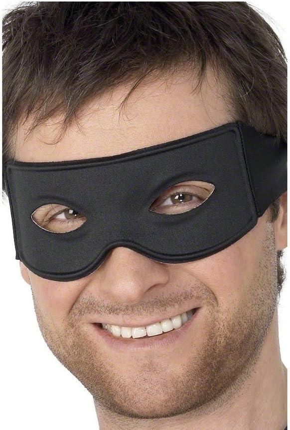 NET TOYS Mascherina Nera per Adulti per Costume da Zorro o da Bandito