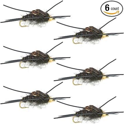 Bead Head Rubber Legs 1 dozen GOLDEN 12 - Kaufmann/'s Stonefly Nymph