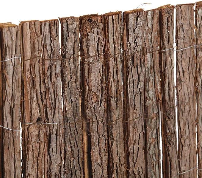 Mugar Corteza de Pino Tejida 1.00x3.00m Doble Cara para cerramientos de parcelas Decorativo: Amazon.es: Jardín