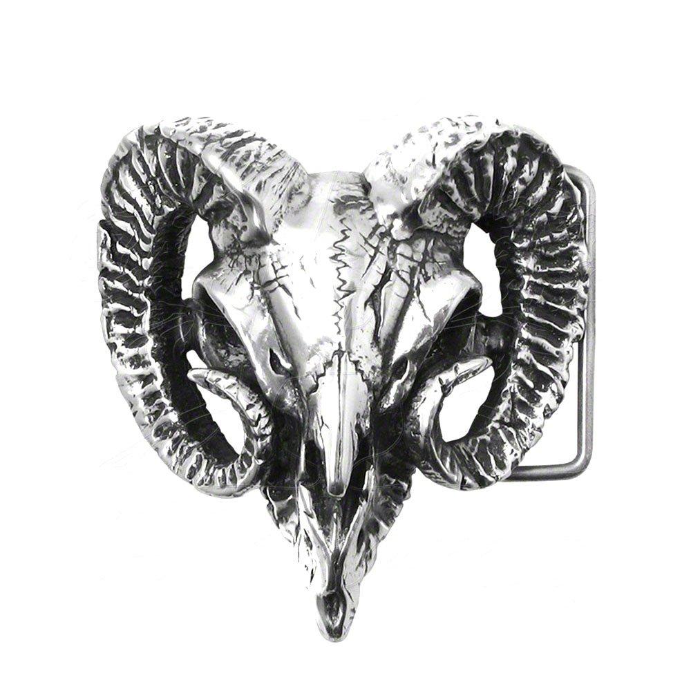 Alchemy Gothic (Metal-Wear) Ram's Skull Belt Buckle 1588-B95