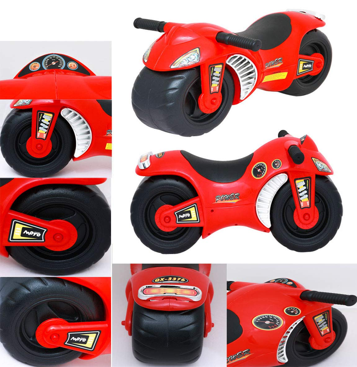 Denny International Ride On Balance Bike for Toddler Kids Motorbike Motorcycle Car Walker Push Along Ride On