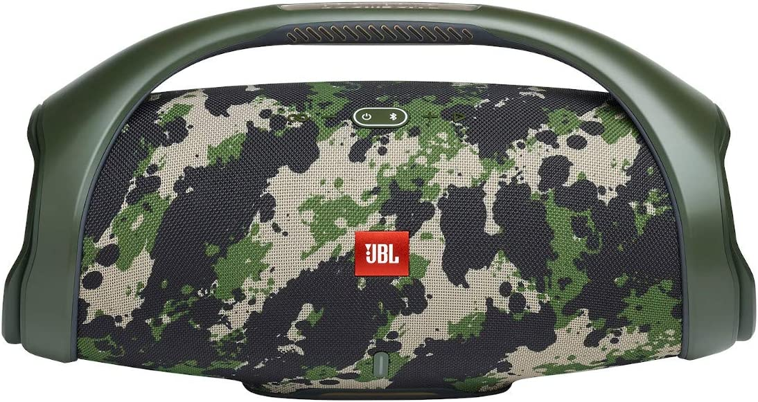 JBL Boombox 2 - Portable Bluetooth Speaker, powerful sound and monstrous bass, IPX7 waterproof, 24 hours of playtime, powerbank, JBL PartyBoost for speaker pairing, speaker for home and outdoor (Camo)