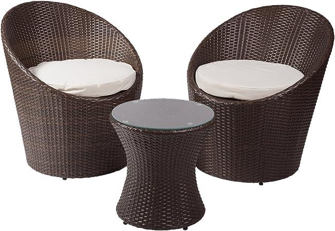 Rotin Design Salon Tampa - Jardin - Couleur Brun foncé ...