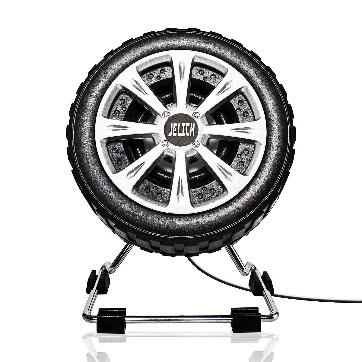 JELICH Tire Shape Computer Speakers - Wired USB Powered Multimedia Small Speakers with light music needs for PC /Desktop /Laptops /Smart Phone