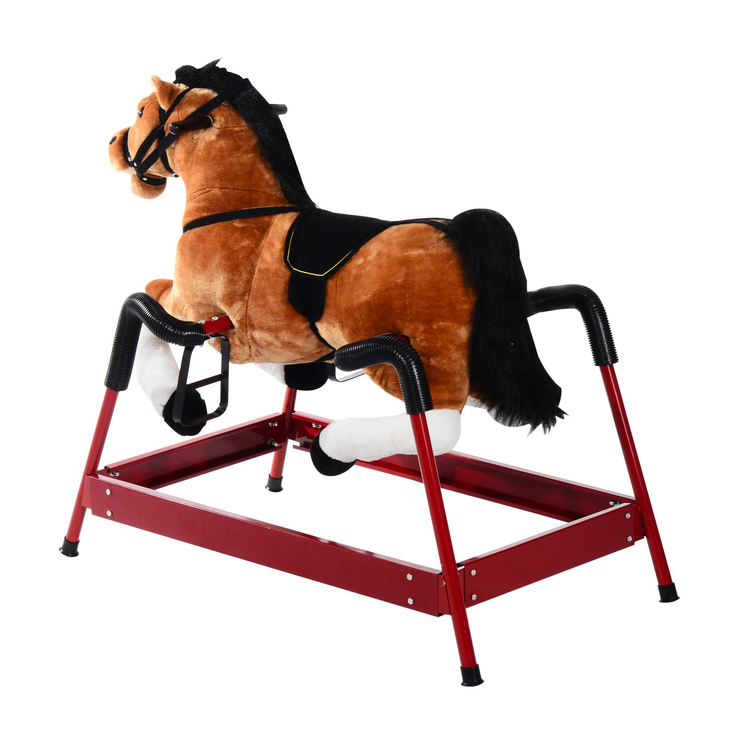 Amazon Qaba Kids Plush Toy Spring Horse Bouncing Rocker with