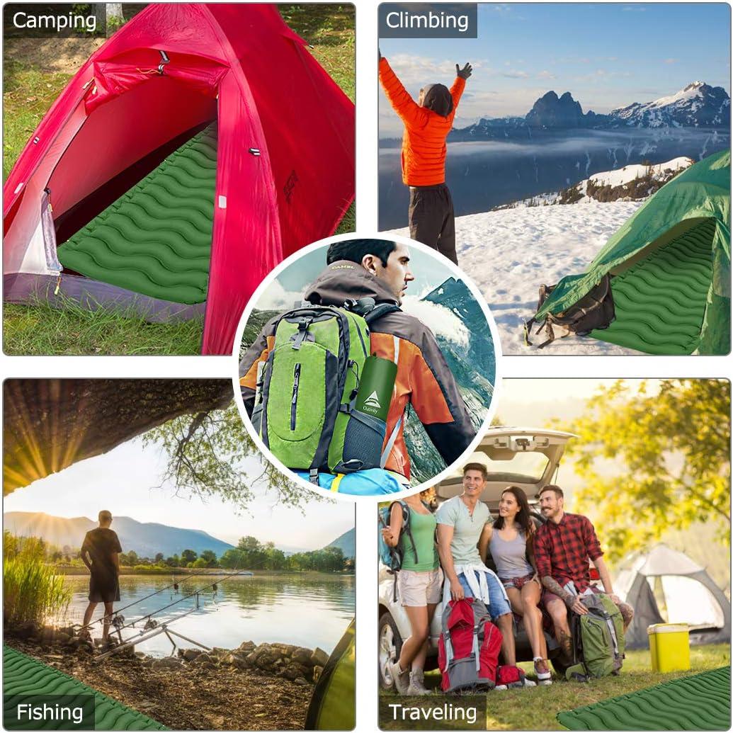 Vergr/ö/ßern Gr/ö/ße 205cm * 65cm * 6cm Outivity Camping Isomatte,Ultraleicht Isomatte Aufblasbare Isomatte Luftmatratze Kleines Packma/ß Schlafmatte f/ür Camping,Outdoor,Wandern,Strand