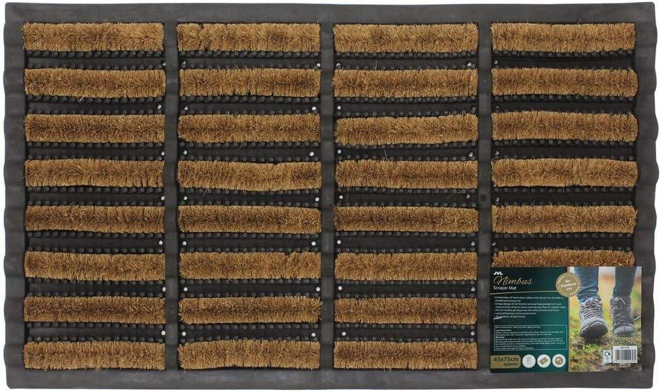 JVL Paillasson en Coco et Caoutchouc Usage ext/érieur 45 x 75 cm