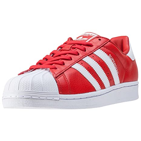 reputable site 4d0d9 3e4d5 adidas Superstar BB2240 Sneaker Uomo, Rosso (RED FTWWHT RED), 39