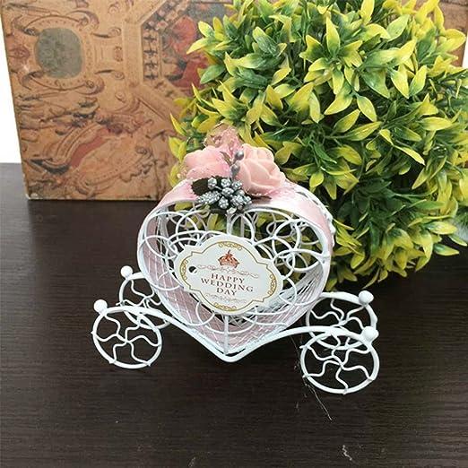 Ocama Caja de caramelos de hierro bonito para boda, chocolate ...