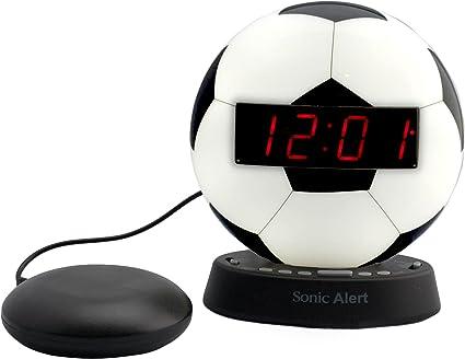 De Sonic Glow balón de fútbol reloj despertador con alarma ...