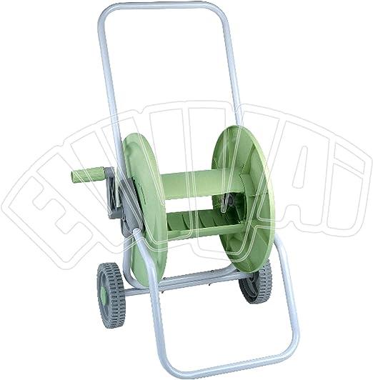 Bobina con carrito para 60 metros de manquera, con ruedas, para manguera riego de jardín: Amazon.es: Jardín