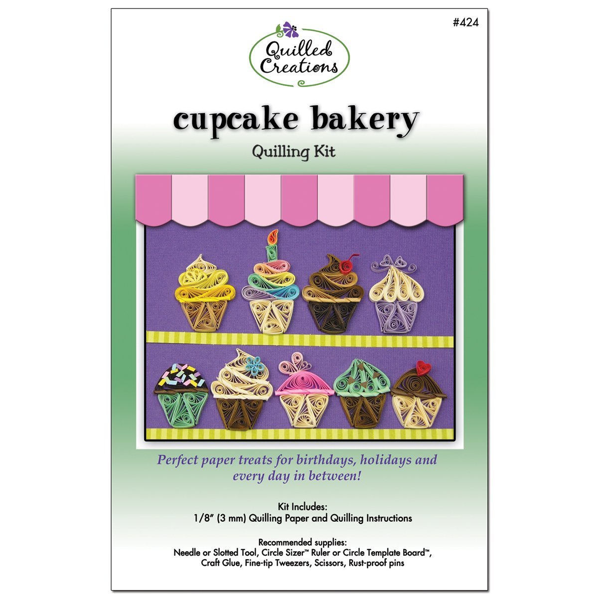 Quilled Creations Q40-424 Quilling Strips Cupcake Bakery Kit