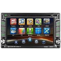 Autoradio CD Tuner mit GPS Navigation, CATUO 6.2 Zoll HD Touchscreen Wince Auto DVD CD Player/Auto Mp5 Player/Car Radio/Auto Multimedia Player, unterstützt Bluetooth Freisprecheinrichtung/AM/FM/USB/TF/AUX IN/Ausgabe/Digitaler TV/Subwoofer-Ausgang/Lenkradsteuerung/Frontkamera Rückkamera Eingang, mit Fernbedienung/GPS-Antenne/SD Karte