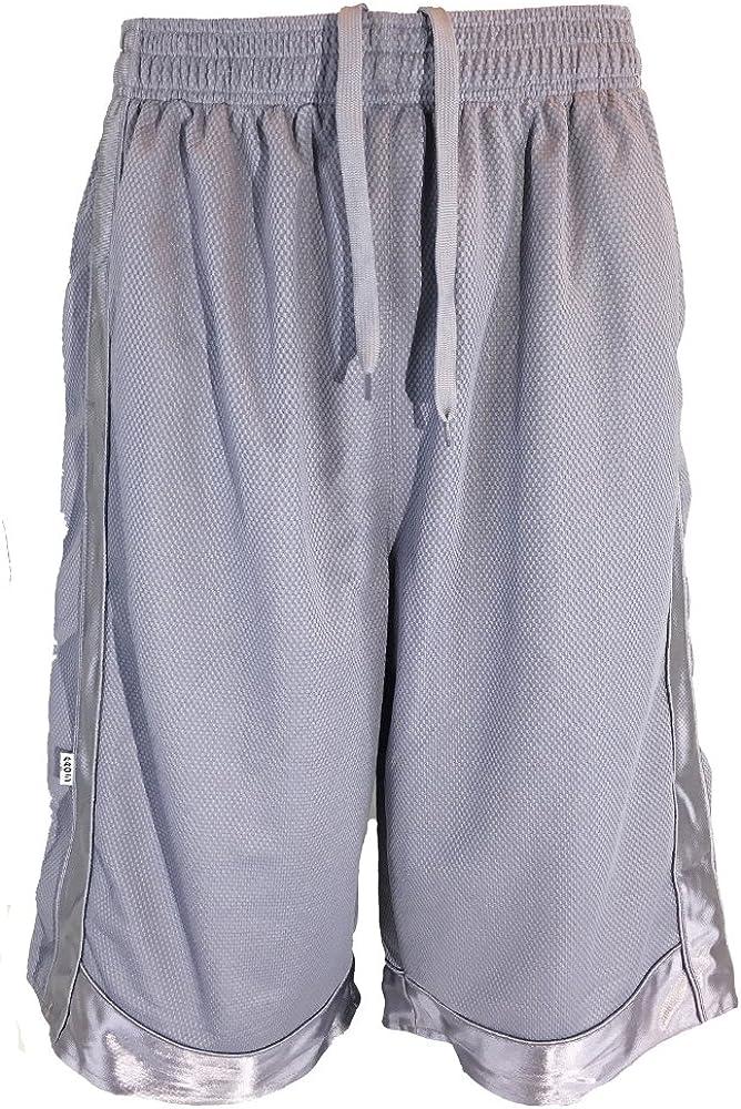 Elastic Waist Shorts with Pockets and Drawstring P5 Apparel Mens Tall Athletic Shorts Long Basketball Shorts