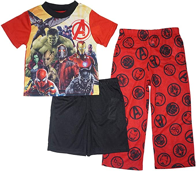 MARVEL AVENGERS INFINITY WAR BOYS 2 PIECE PAJAMAS SLEEPWEAR SET BRAND NEW WITH T