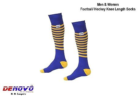 DeNovo Lycra Knee Length Football  amp; Hockey Socks for Men and Women  1 Pair