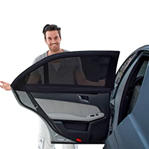 -... 2 Pack BEZ® Universal Static Cling Sunshade for Baby Car Sun Shade