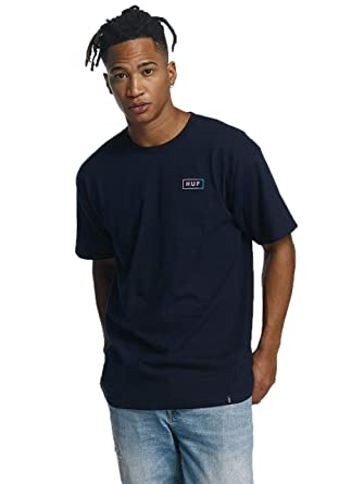 d34bb8294bdf5 HUF Men Overwear/T-Shirt Gradient Bar Logo Blue L: Amazon.co.uk ...
