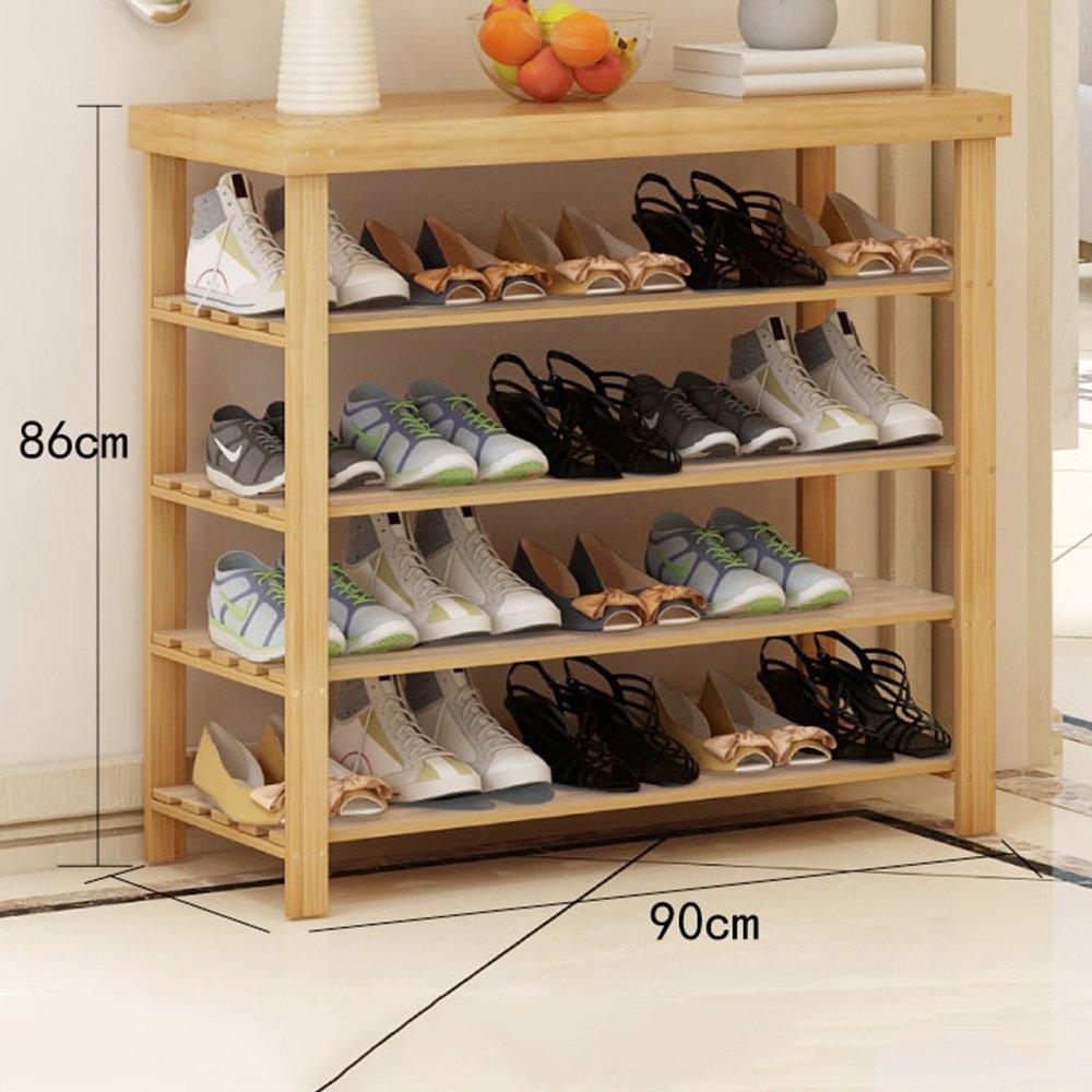 YNN 4層竹の靴ベンチ、靴棚収納オーガナイザー、50/60/70/80/90/100×27×86cm、理想的な廊下、バスルーム、リビングルームと回廊 (サイズ さいず : 50 cm 50 cm) B07DWQNQ9T 50 cm 50 cm 50 cm 50 cm