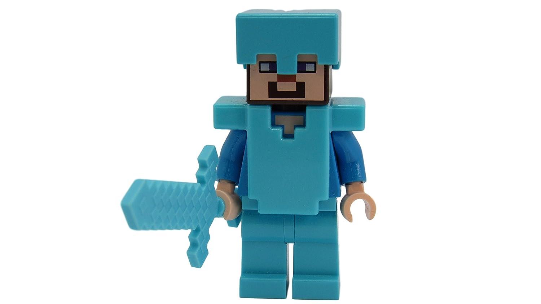 Amazoncom Lego Minecraft Steve Diamond Armor And Sword