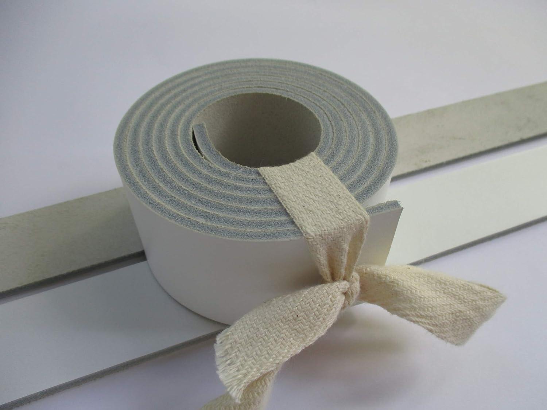9-10 oz 51-55 38mm. White Genuine Natural Leather Belt Blank Strip Strap Band. 1 1//2