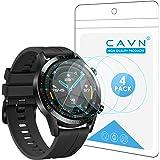 CAVN Protector de pantalla compatible con Huawei Watch GT2 46mm, 4 unidades, impermeable, a prueba de golpes…