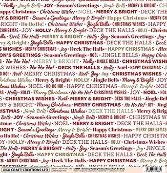 Christmas Greetings Wording.5 Sheets 12 X 12 Christmas Greetings Wording Red And Brown