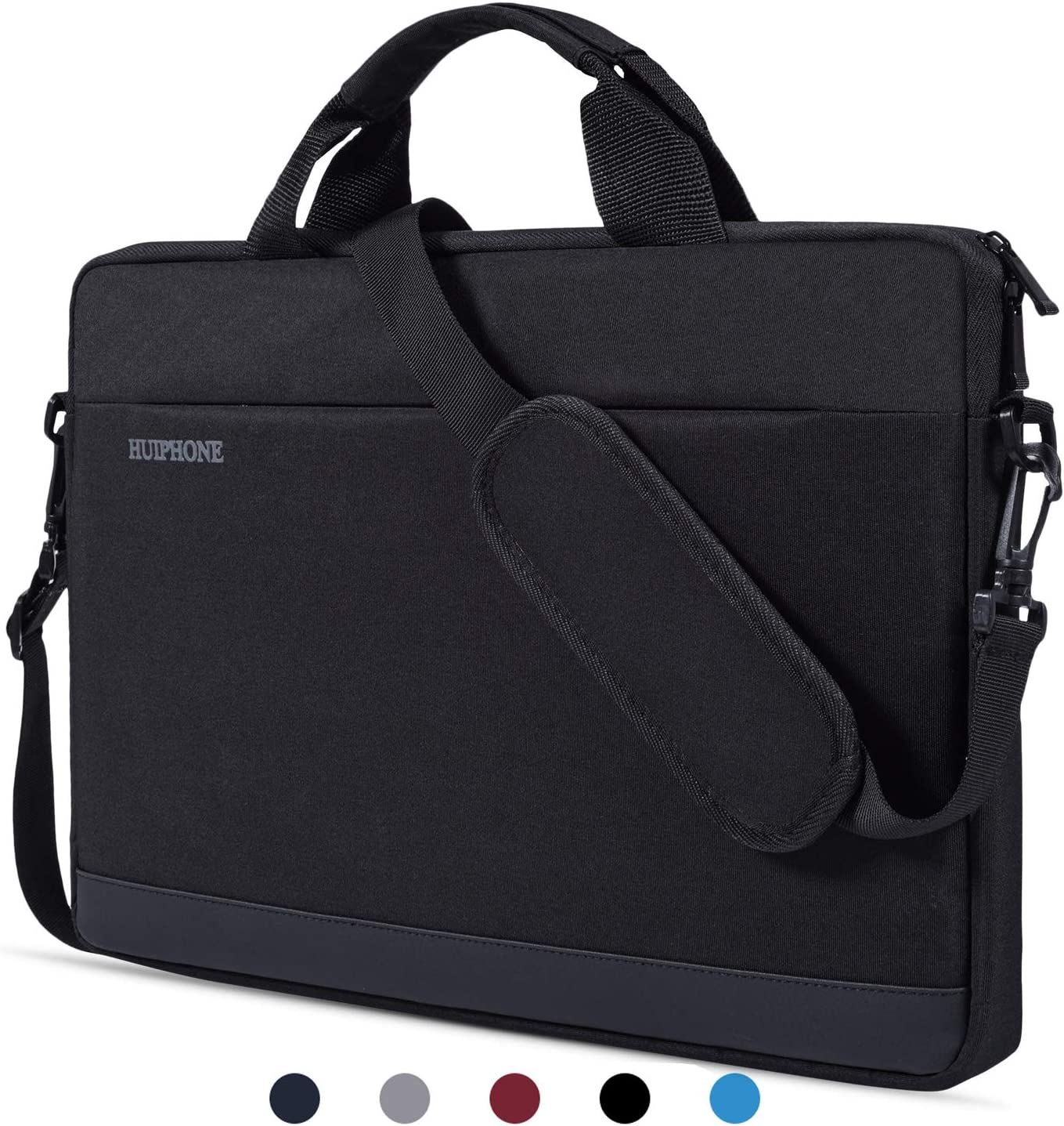 "15.6 Inch Water Resistant Laptop Shoulder Bag Case Sleeve for Acer Aspire E 15,Acer Chromebook 15,HP 15.6"" Laptop,ASUS VivoBook F510UA 15.6,MSI LG Toshiba ASUS Lenovo Acer 15.6 inch Notebook Bag,Black"