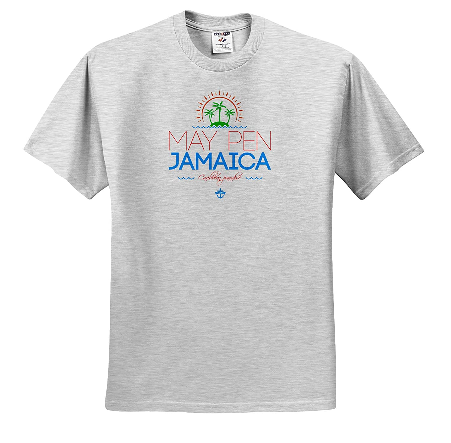 Summer Journey and Fun Cities Jamaica Adult T-Shirt XL ts/_313231 Jamaica City 3dRose Alexis Design May Pen