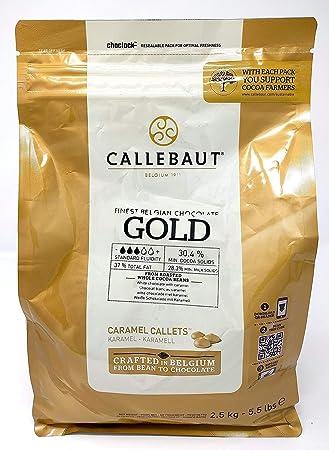 Callebaut Oro Chocolate Chocolate, callets 2,5 kg, lanzando Chok olade, chips: Amazon.es: Hogar