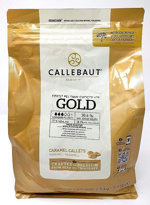 Callebaut Oro Chocolate Chocolate, callets 2,5 kg, lanzando Chok olade, chips