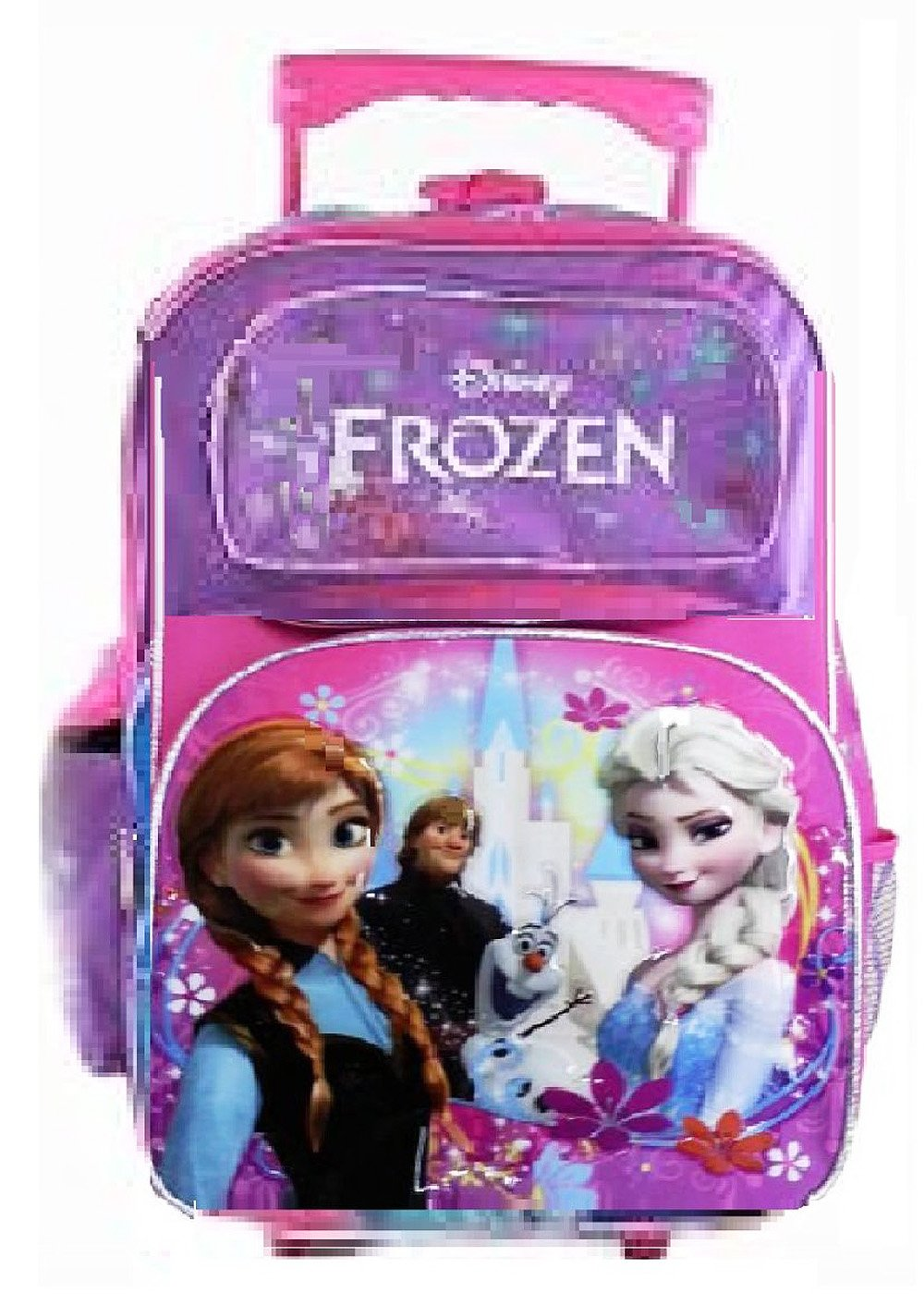 bd81f6f775d Full Size Purple and Pink Elsa and Anna Disney Frozen Rolling Backpack