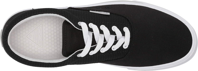 6 Black//White Columbia Womens Slack Water PFG Lace Boat Shoe