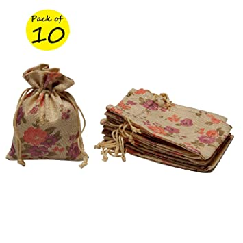 LifeKrafts Linen PouchesChristmasBirthday Party Favour Gift Bag Gifts Bags For Return