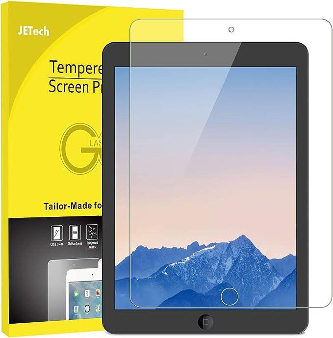 """JETech Protector de Pantalla compatible iPad (9,7 Pulgadas, 2018/2017 Modelo, 6ª / 5ª generación), iPad Air 1, iPad Air 2, iPad Pro 9,7"""", Vidrio Templado"""