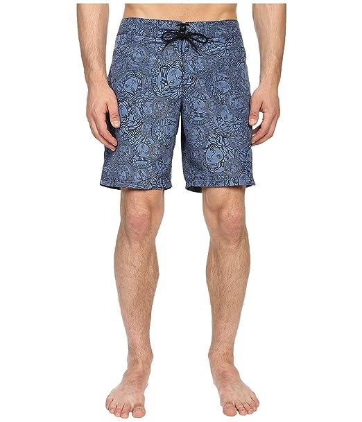 3da9fa959c40 Versace Men s Medusa Nylon Long Trunk Cornflower Swimsuit Bottoms ...