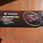 Tevlaphee Cerradura del Volante Antirrobo Alta Seguridad Fuerte Universal para Todos Vehículos Bloqueo Giratorio Ajustable Autodefensa con 3 Llaves ...