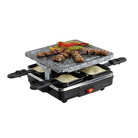 Raclette para 4 personas piedra eléctrico Barbacoa Parrilla ...