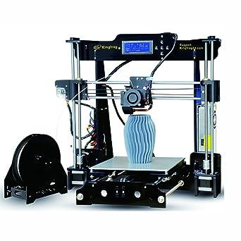 Kingfrog P802M Alta Precisión Prusa i3 3D Impresora DIY Self-Assembly Kits con tarjeta SD para vídeo e imagen Guía de instalación