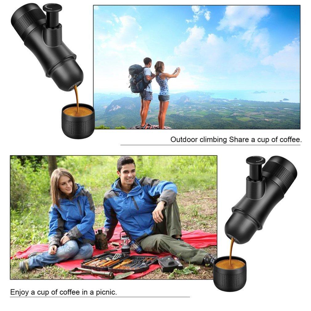 Portable Travel Coffee Maker,CENDA Mini Manual Espresso Machine Compact Manual Pressure Hand Operated Coffee Maker Quick Cold Brew(No Battery,No Electronic Power Required) by CENDA (Image #4)