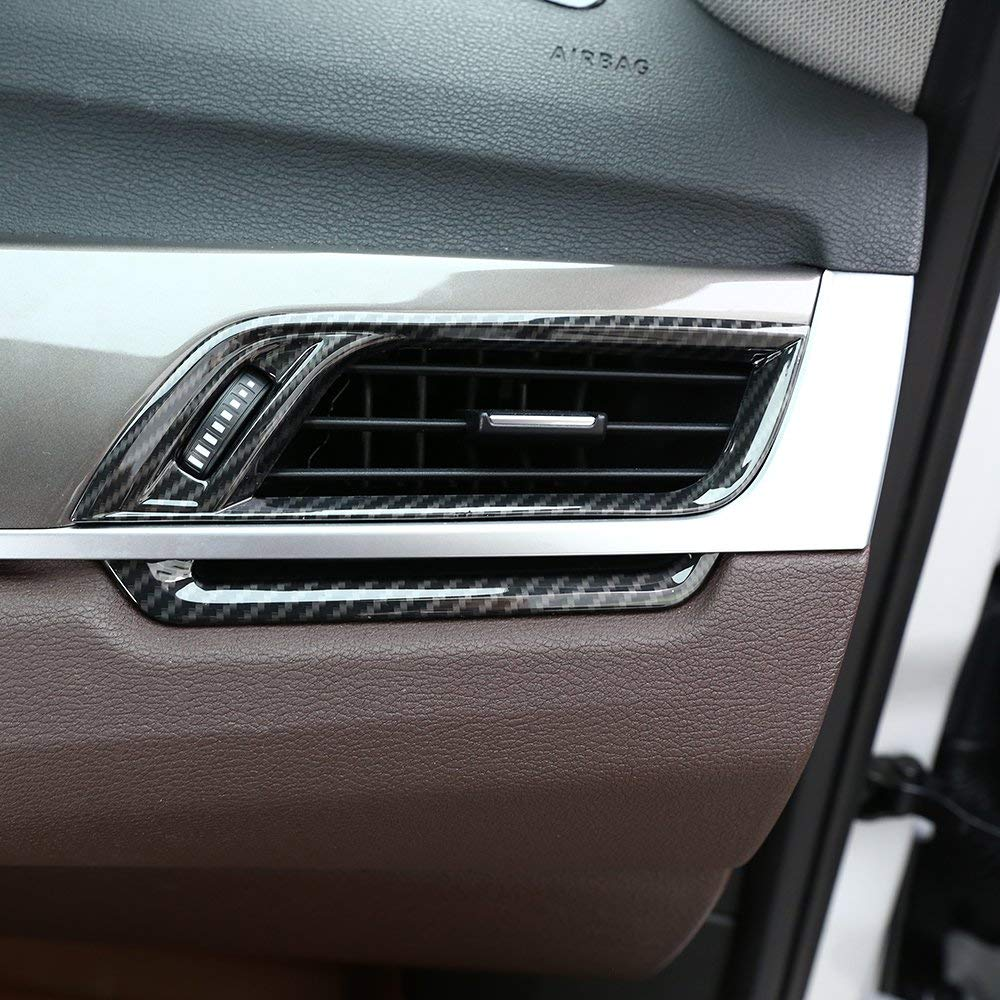 Silver MAVMAX for BMW 2 Series F45 F46 218i 2015-2018 Car Accessories ABS Chrome Side Air Conditioning Vent Outlet Frame Trim
