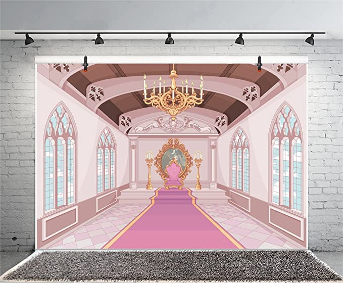Zhy Palace Interior Backdrop for Photography 7x5ft 2.1x1.5m Princess Prince Dance Background Party Decor Supplies Photo Shooting Props BJQQST118