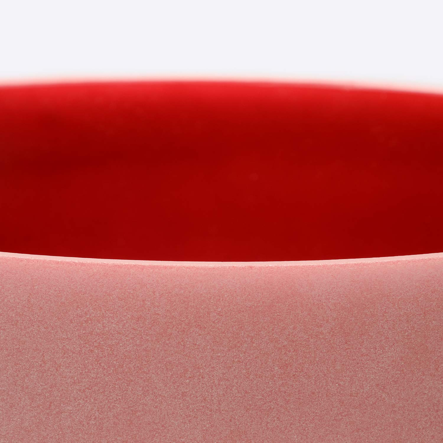 TOPFUND Red Color Quartz Crystal Singing Bowl C Note Root Chakra12 inch O-Ring and Rubber Mallet Included by TOPFUND (Image #5)