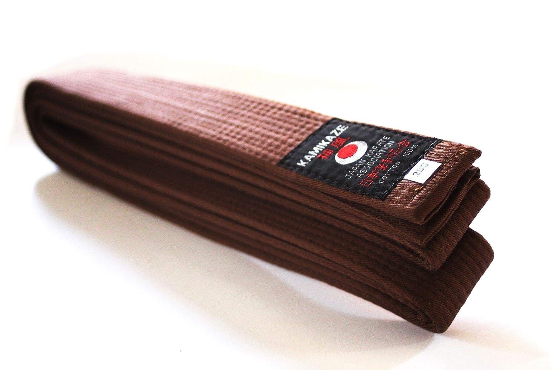 5.5//300 cm Kamikaze Cintura de Prima qualit/à Marrone in cottone