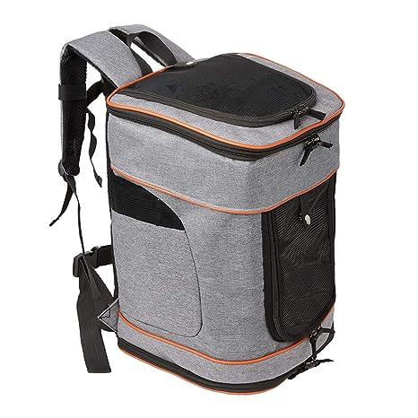 Pawaboo Pet Carrier Backpack Adjustable Hands Free Comfort Pet Cat