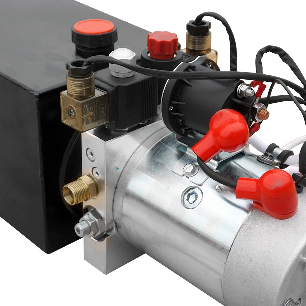 Electric Hydraulic Pump Unit  Metal Reservoir  for Dump Trailer (Double Acting 10 Quart) by Fisters (Image #4)